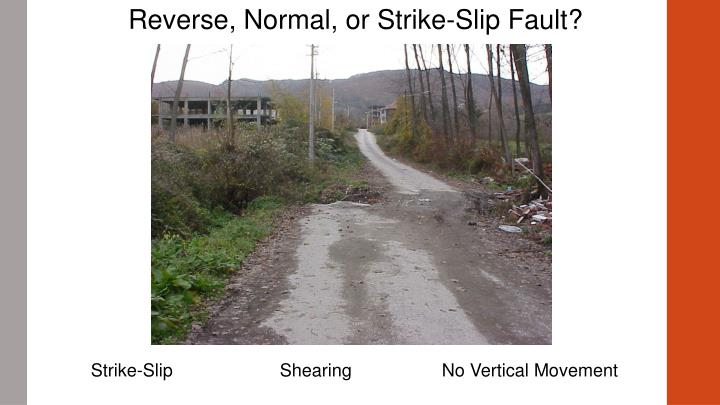 Reverse, Normal, or Strike-Slip Fault?