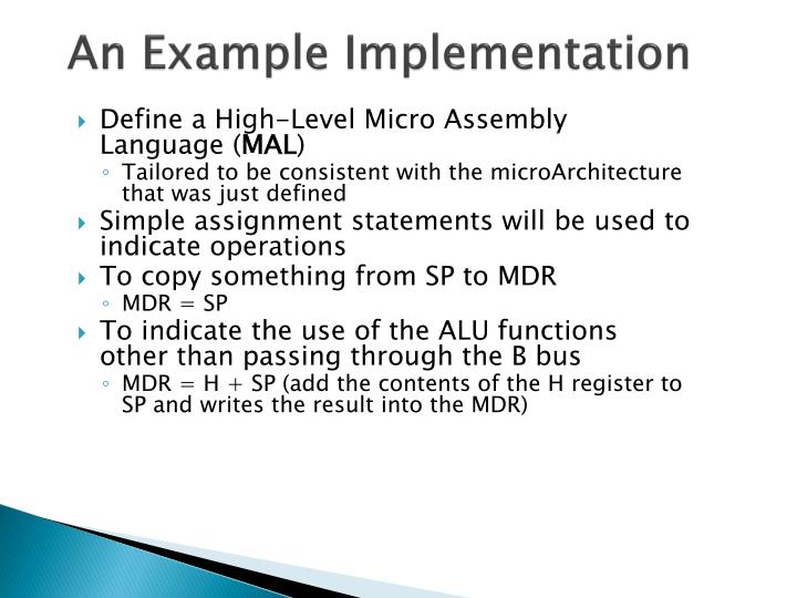 An Example Implementation