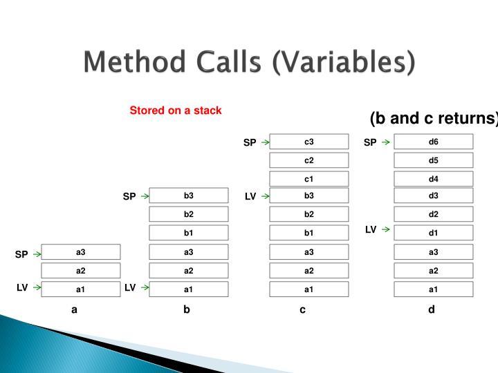 Method Calls (Variables)