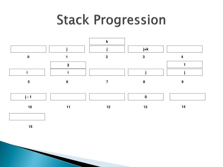 Stack Progression