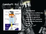 camshaft dlc coating