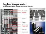 engine components increased wear resistance or decreased friction