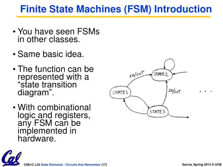 Finite State Machines (FSM) Introduction