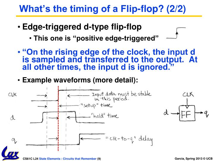 What's the timing of a Flip-flop? (2/2)