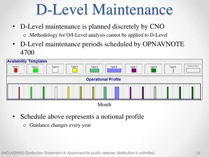 D-Level Maintenance