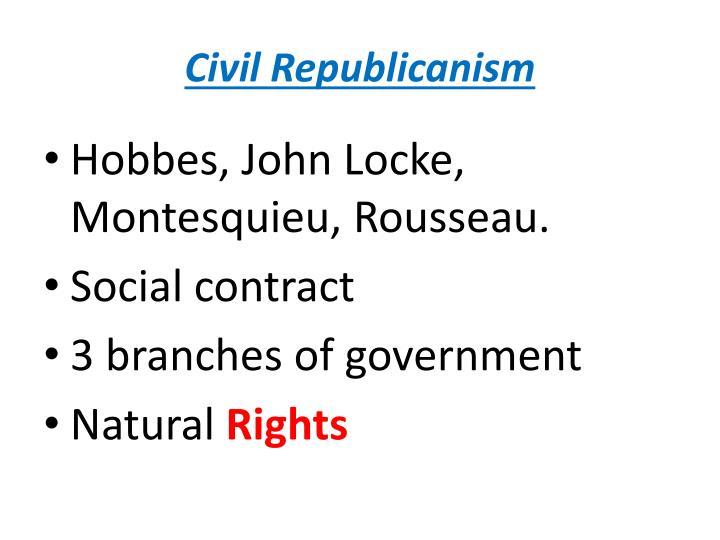 Civil Republicanism