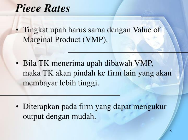 Piece Rates