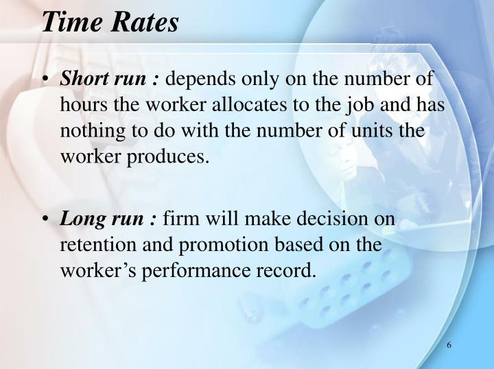 Time Rates