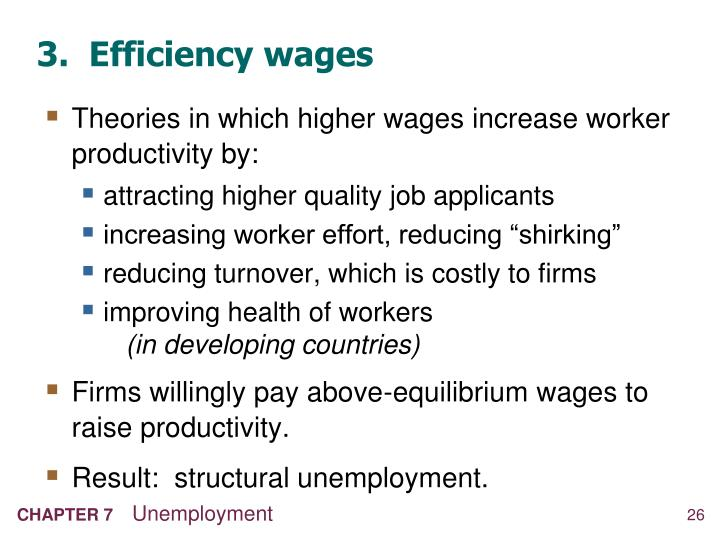 3.  Efficiency wages