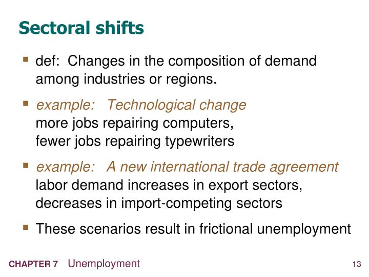 Sectoral shifts