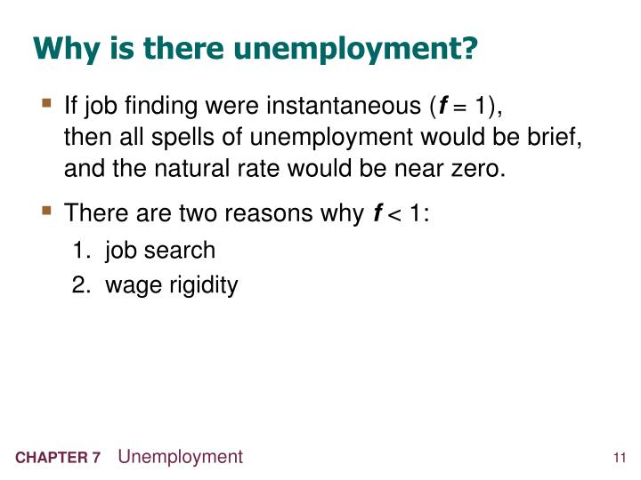 Why is there unemployment?