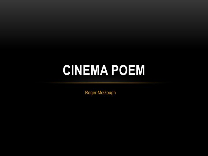 cinema poem n.