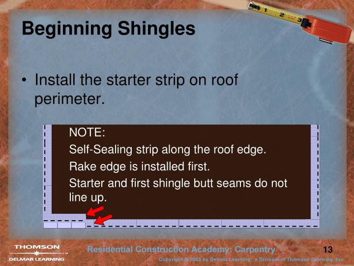 Beginning Shingles