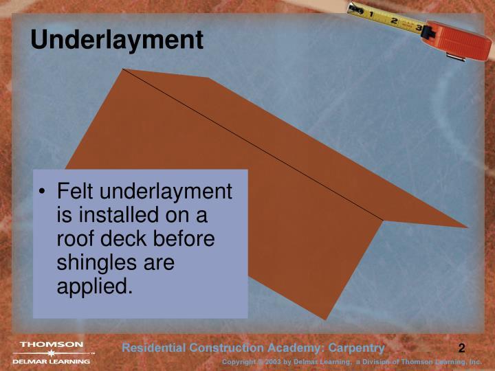 Underlayment