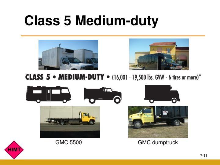 Class 5 Medium-duty
