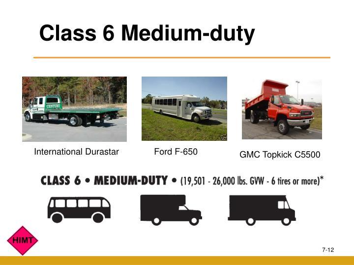 Class 6 Medium-duty