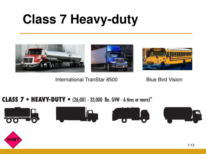 Class 7 Heavy-duty