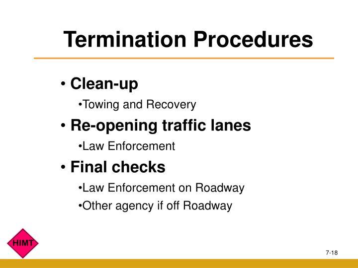 Termination Procedures