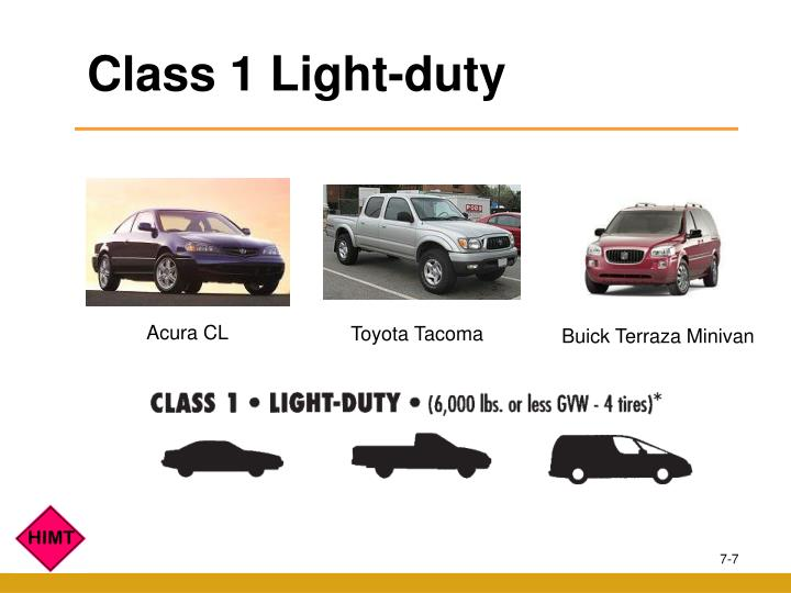 Class 1 Light-duty