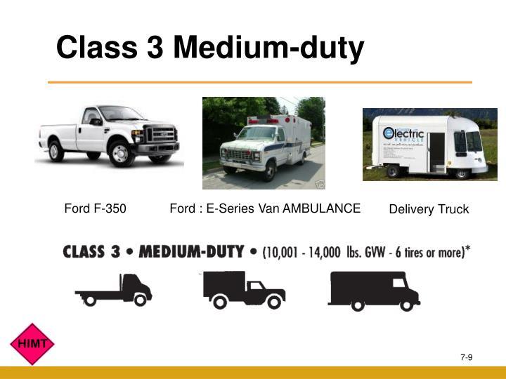 Class 3 Medium-duty