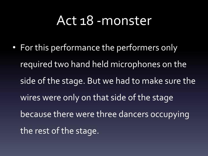 Act 18 -monster