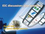 eic discussion just questions