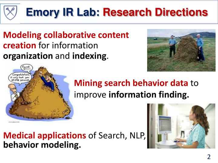 Emory ir lab research directions