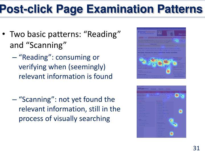 Post-click Page Examination Patterns