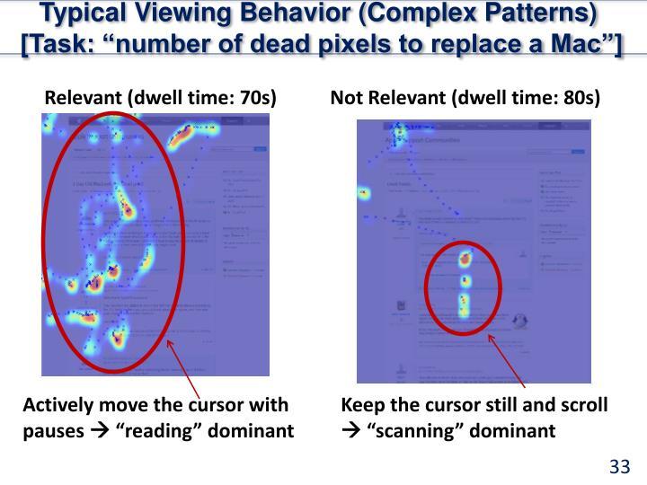 Typical Viewing Behavior (Complex Patterns)