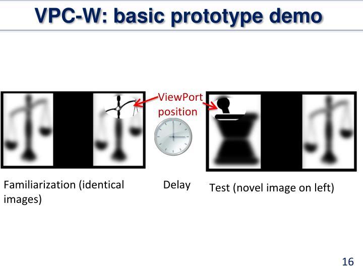 VPC-W: basic prototype demo