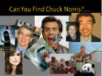 can you find chuck norris stuff