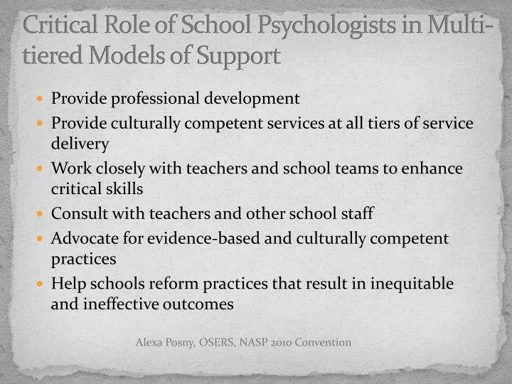 Critical Role of School