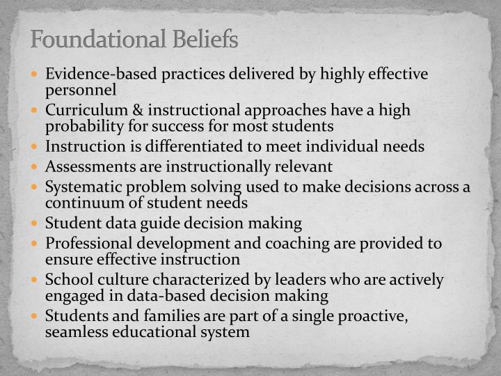 Foundational Beliefs