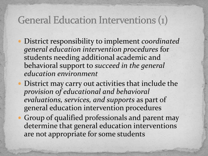 General Education Interventions (1)