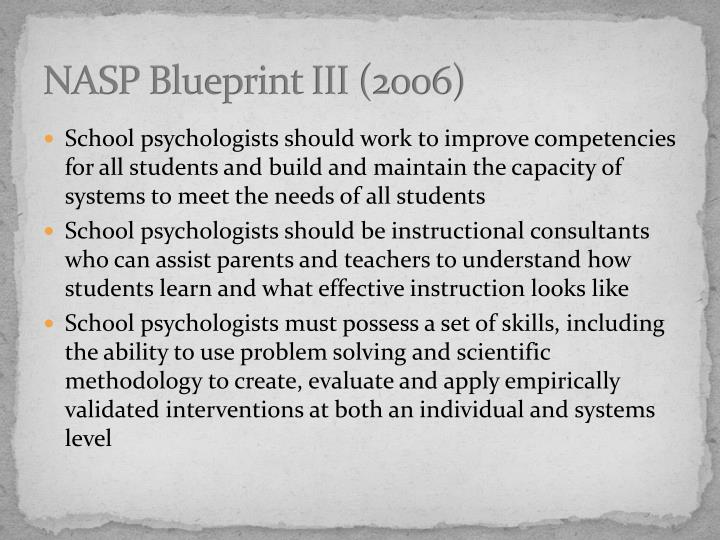 NASP Blueprint III (2006)