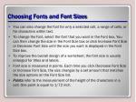 choosing fonts and font sizes1
