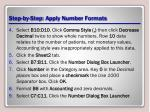 step by step apply number formats1