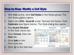 step by step modify a cell style