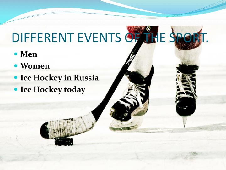 Different events of the sport