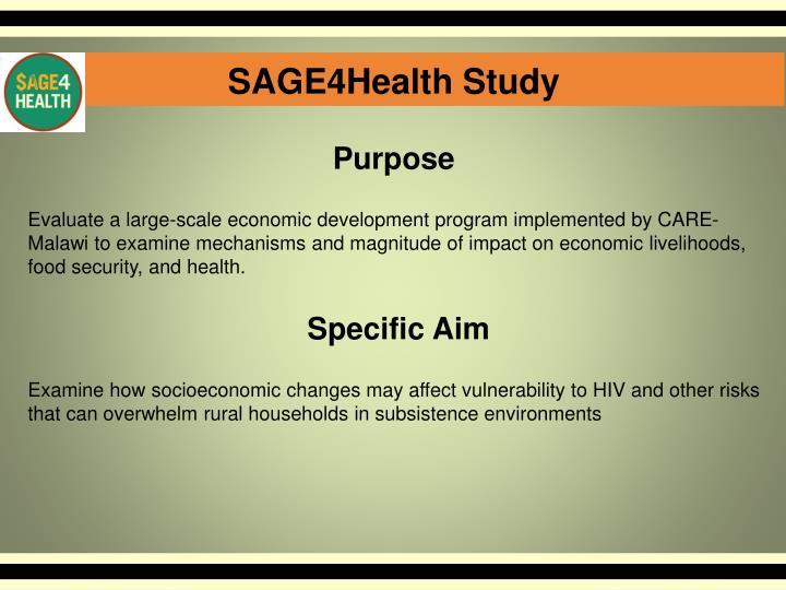 SAGE4Health Study