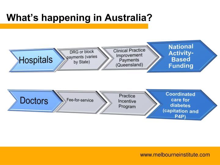 What's happening in Australia?