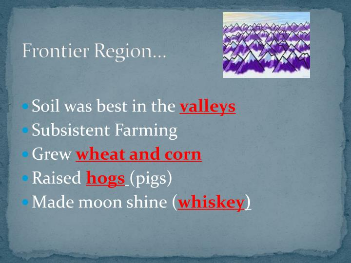 Frontier Region…