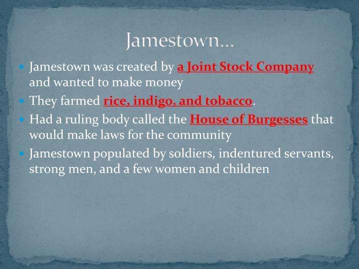 Jamestown…