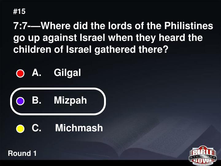 A.  Gilgal