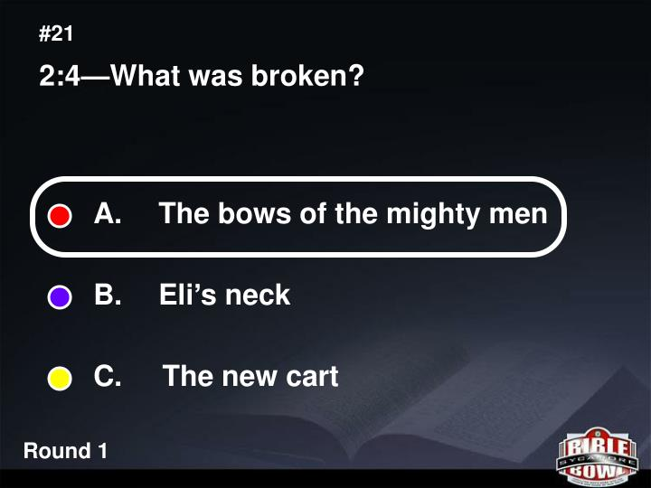 A.  The bows of the mighty men