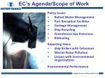 ec s agenda scope of work
