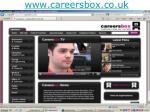 www careersbox co uk
