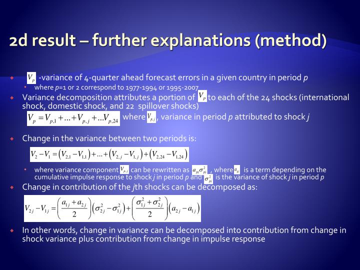 2d result – further explanations (method)