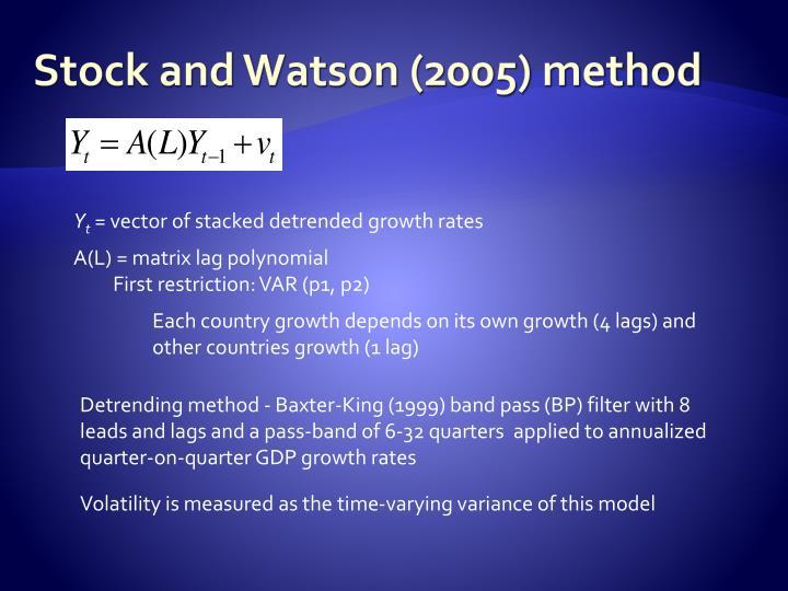 Stock and Watson (2005) method
