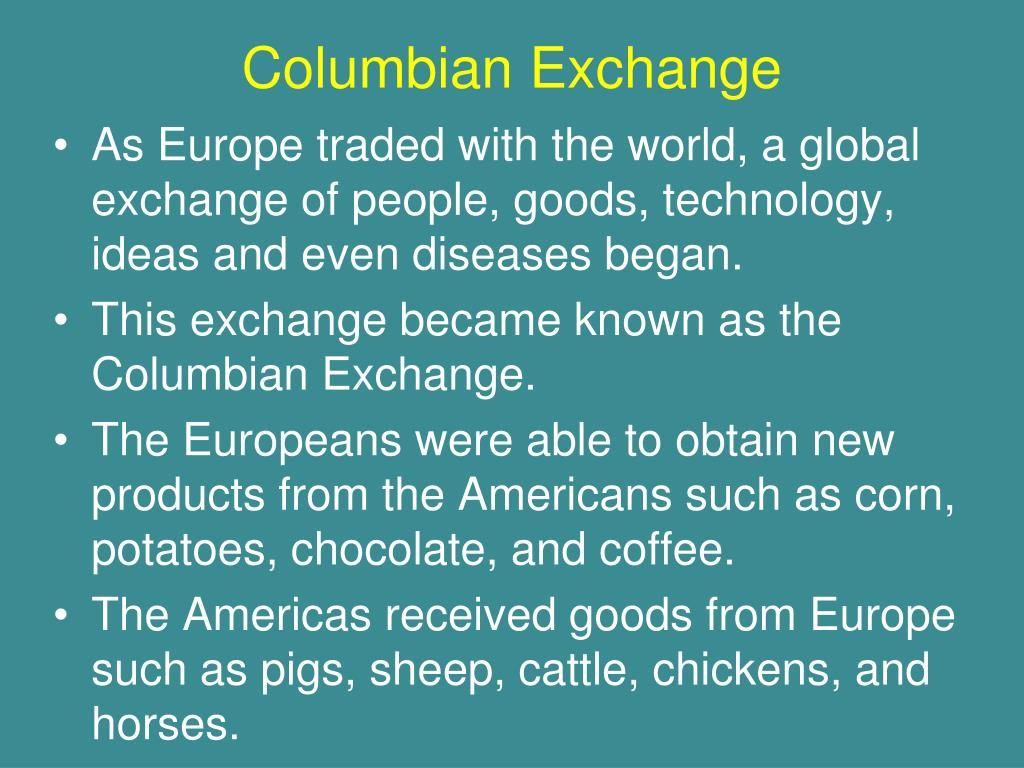 Columbian Exchange Technology - Aumondeduvin.com